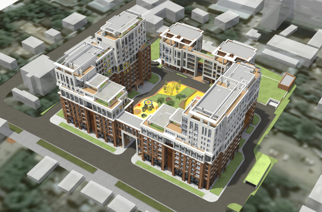 Residential complex in Kaluga. Overview. Project, 2015 © GrandProjectCity