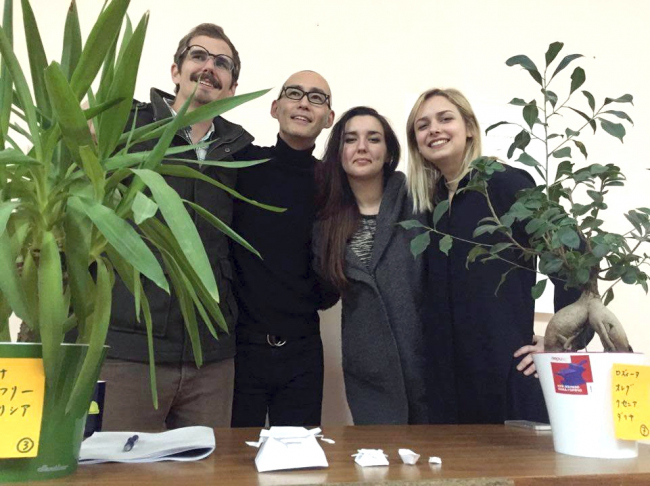 Победители конкурса. На фото слева направо: Джефри Стивенс, Хироки Мацуура, Патрисия Урлан и Анна Петрова. Фотография предоставлена организаторами