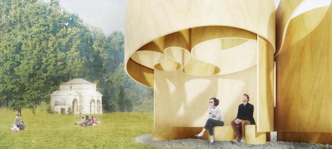 Летние домики Галереи Серпентайн 2016. Домик по проекту Barkow Leibinger. Изображение © Barkow Leibinger