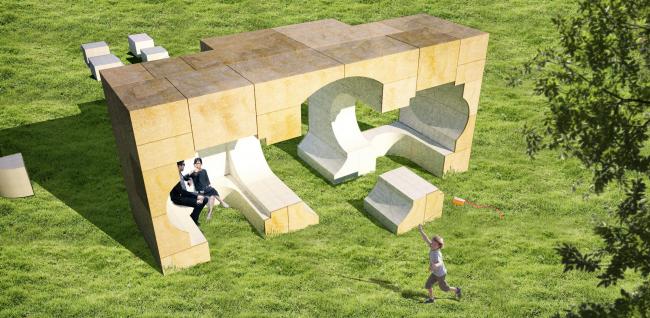 Летние домики Галереи Серпентайн 2016. Домик по проекту Кунле Адейеми и его бюро NLÉ. Изображение © NLÉ