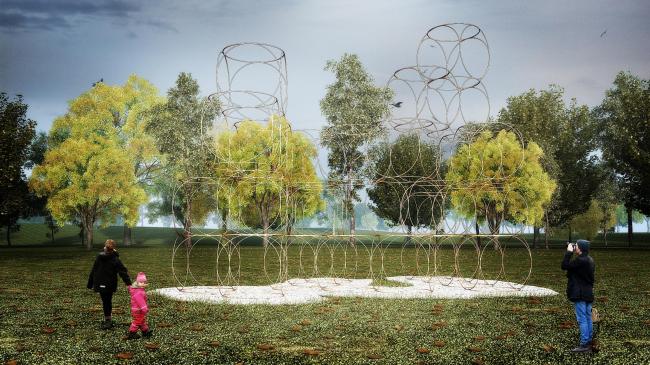 Летние домики Галереи Серпентайн 2016. Домик по проекту Ионы Фридмана. Изображение © AECOM