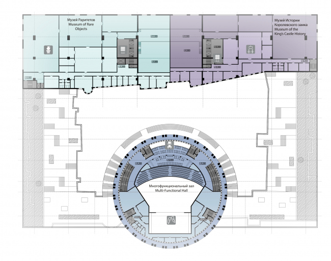 Проект историко-культурного комплекса в Калининграде. План 2 этажа. Проект, 2015 © Архитектурная матсерская А.А. Столярчука