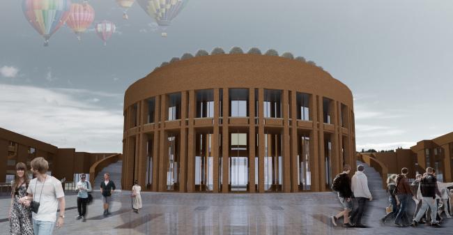 Проект историко-культурного комплекса в Калининграде. Проект, 2015 © Архитектурная мастерская А.А. Столярчука