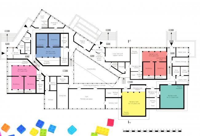 Nursery school in London. Plan. Project, 2015 © Anatoly Stolyarchuk Architectural Studio