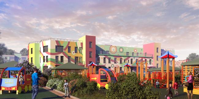"""New Sertolovo"" residential complex. Project, 2015 © Sergey Tsytsin Architectural Studio"