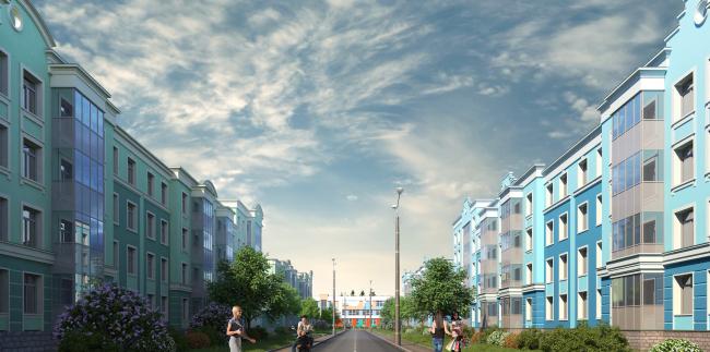Жилой квартал «Новое Свертолово». Проект, 2015 © Архитектурная мастерская Цыцина