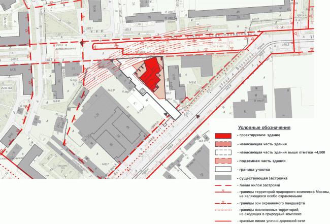 Многоквартирный жилой дом на ул. Орджоникидзе. Ситуационный план. Проект, 2015 © Сити-Арх