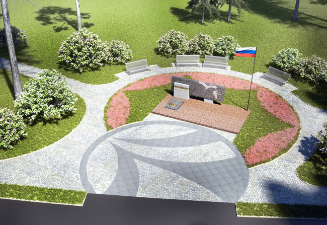 """""""New Sertolovo"""" residential complex. Monument to the Heroes Project, 2015 © Sergey Tsytsin Architectural Studio"""