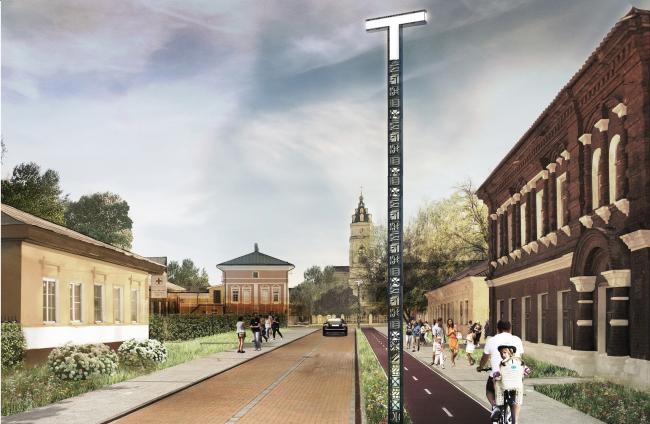 Концепция обновления общественных пространств в Туле. Благовещенская улица. Проектное предложение, 2015 © Четвертое измерение