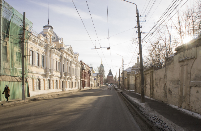 The concept of renovating Tula's public territories. The Metallistov Street. The current situation. Project, 2015 © 4izmerenie