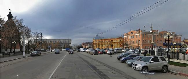 The concept of renovating Tula's public territories. The Krestovozdvizhenskaya Square. The current situation. Project, 2015 © 4izmerenie
