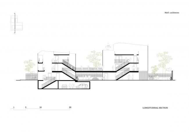 Жилой комплекс в Нантере © MaO architectes + Tectône