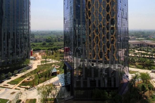 Центр товарных бирж Среднего Запада в Сиане © Interdesign Associates