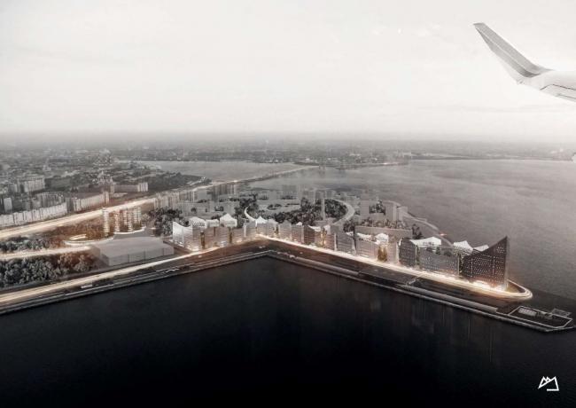 Концепция развития намывных территорий на Васильевском острове © Snøhetta AS. Предоставлено компанией Glorax Development