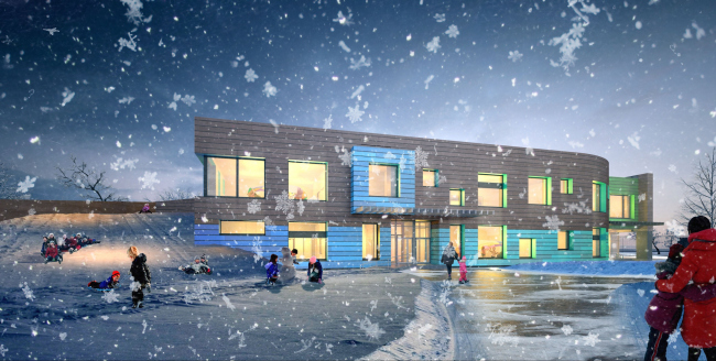Kindergarten in Beloyarsky. Project, 2014 © City-Arch