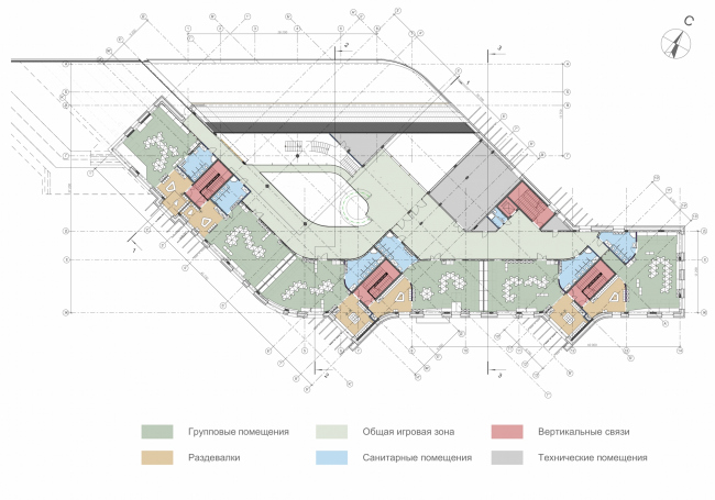 Kindergarten in Beloyarsky. Plan of the 2nd floor. Project, 2014 © City-Arch