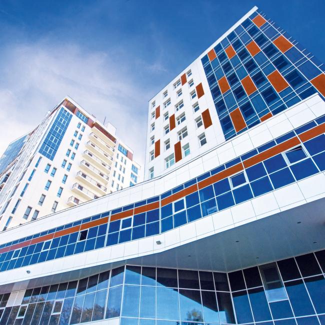 МФК «Альфа Центр», Чебоксары. Фотография предоставлена ГК «АЛЮТЕХ»