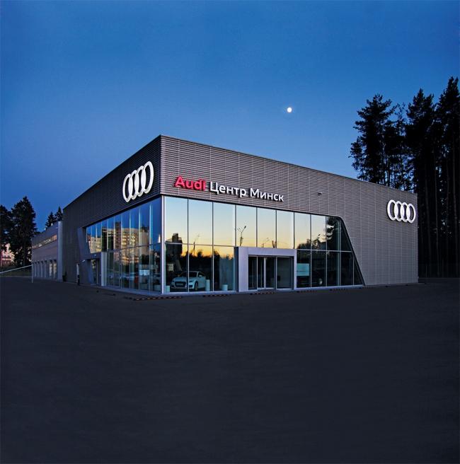 Салон Audi, Минск. Фотография предоставлена ГК «АЛЮТЕХ»