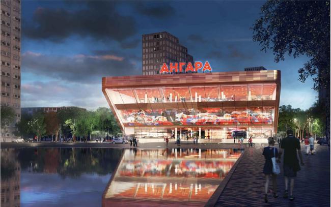 Здание на месте к/т «Ангара» © ADG Group, AL_A, ABD architects