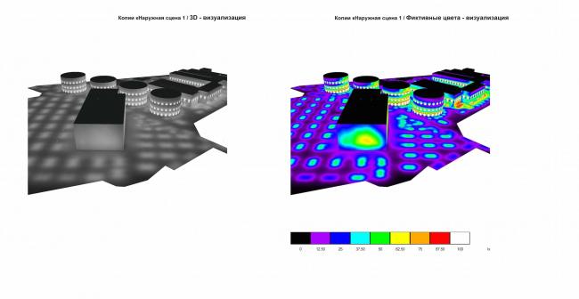 Арма: благоустройство территории. Схема освещения территории © Сергей Киселёв и Партнёры