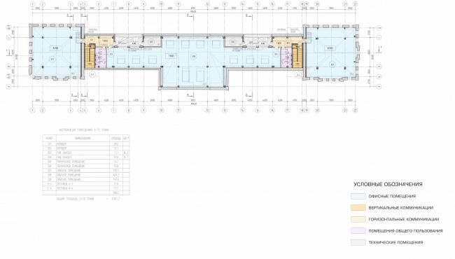 Арма: корпуса 1. План 3 этажа © Сергей Киселёв и Партнёры