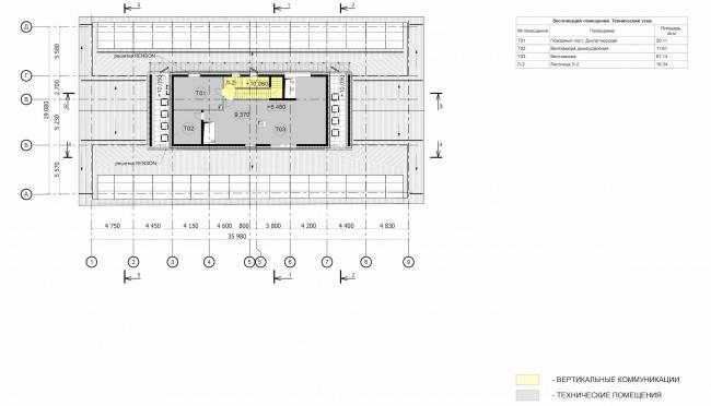 Арма: корпус 6. План 3 этажа © Сергей Киселев и Партнеры
