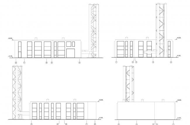 Арма: корпус 7 (котельная). Фасады © Сергей Киселев и Партнеры