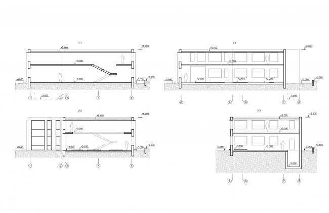 Арма: корпус 7 (котельная). Разрезы © Сергей Киселев и Партнеры
