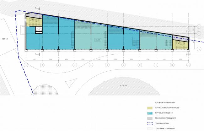 Арма: корпус 13. План 2 этажа © Сергей Киселев и Партнеры