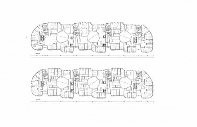 Планы дома, построенного по программе VPO в районе Вайкас. Мадрид. П. Кук, С. Перес, О. Руеда. Иллюстрация предоставлена издательством «БуксМарт»