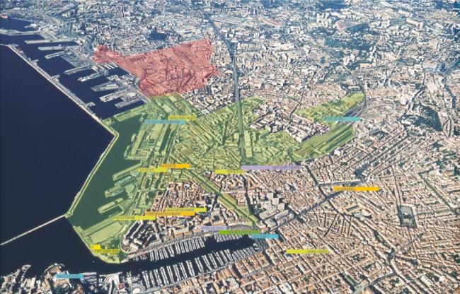 Euroméditerranée. Зеленый – фаза 1, красный – фаза 2. © EPA Euroméditerranée