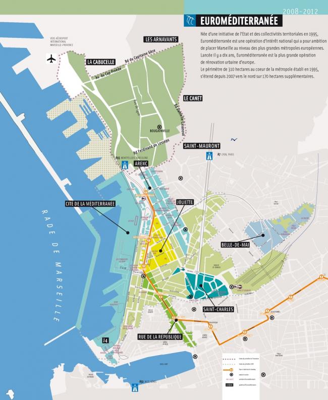 Схематический план Euroméditerranée. © EPA Euroméditerranée
