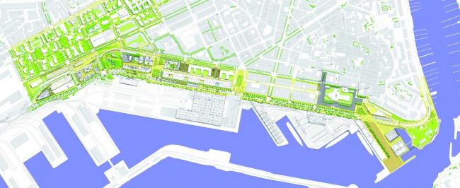 Трансформация 3 км берега между фортом Сен-Жан и гаванью Аранк. Арх. И. Льон. © Yves Lion et associés
