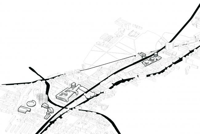 """Новый индустриальный  кластер – интеграция. Дипломный проект """"New industrial milieu"""" Иво Барроса – выпускника АА и преподавателя летнего курса"""