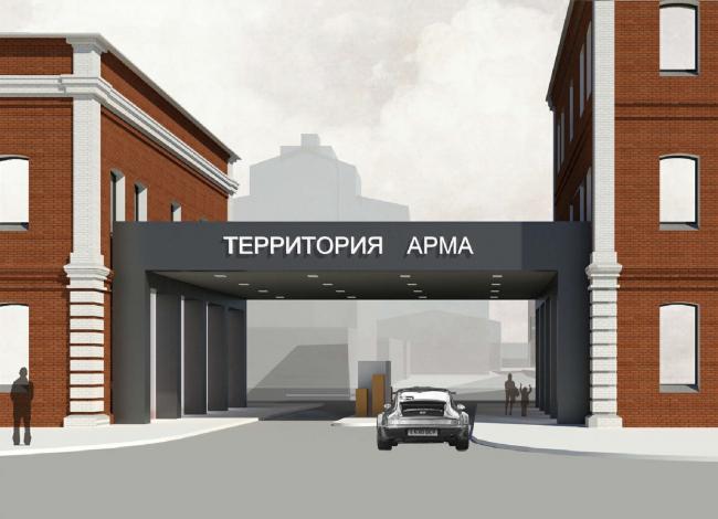 Арма: главный въезд. Вариант 1. Визуализация, 2015 © Сергей Киселев и Партнеры