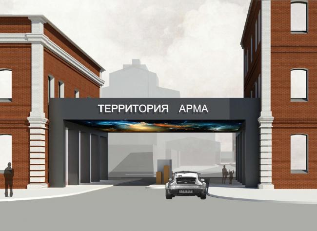 Арма: главный въезд. Вариант 2. Визуализация, 2015 © Сергей Киселев и Партнеры