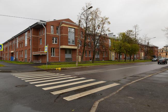 Жилой комплекс «Амазонка». Вид с ул. Зосимова. Постройка, 2015 © Студия 44