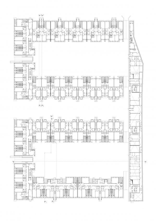 """Amazon"" residential complex. Plan of the 1st floor © Studio 44"
