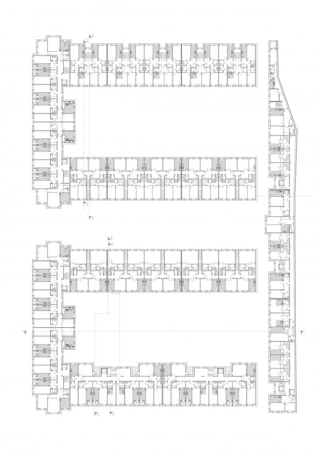 """Amazon"" residential complex. Plan of the 2nd floor © Studio 44"