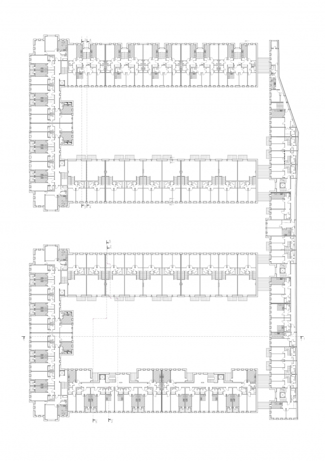 """Amazon"" residential complex. Plan of the 3rd floor © Studio 44"