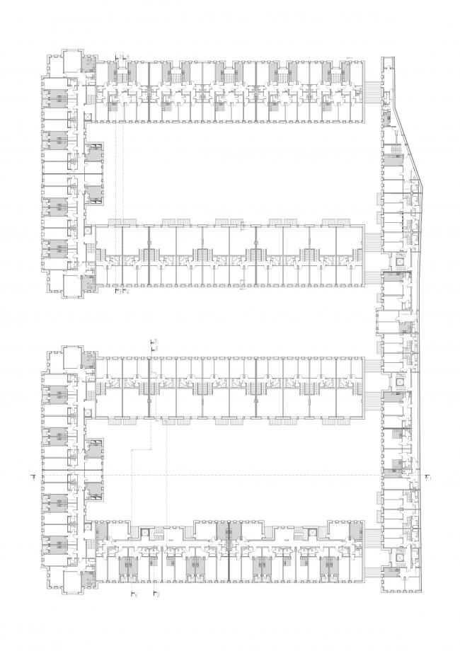"""Amazon"" residential complex. Plan of the 3rd floor © Studio 44"