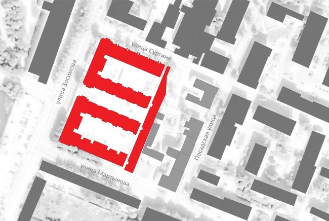 """Amazon"" residential complex. Location plan © Studio 44"