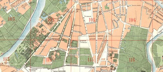 1881 год. План города Москвы. Источник: retromap.ru