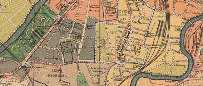 1915 год. План Москвы с пригородами. Источник: retromap.ru