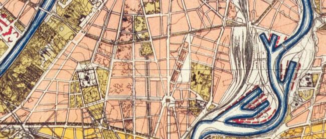 1923 год. Проектный план «Новая Москва». Источник: retromap.ru