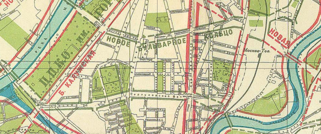 1935 год. Новые магистрали Москвы. Источник: retromap.ru