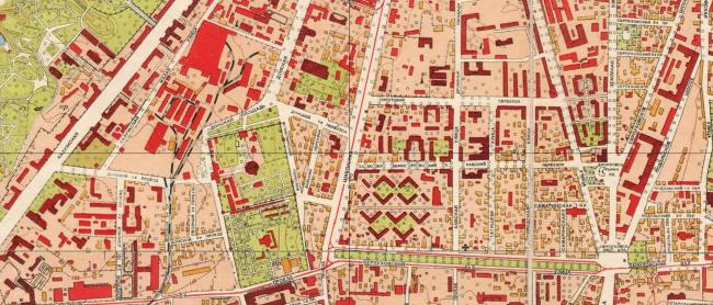1952 год. План Москвы. Источник: retromap.ru