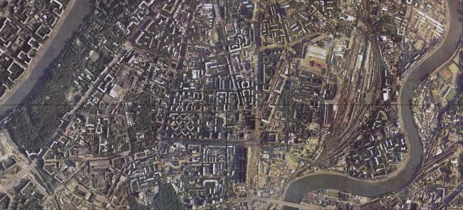 1996 год. Снимок Москвы со спутника. Источник: retromap.ru