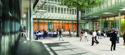 Комплекс Central Saint Giles. Проект. Площадь внутри комплекса