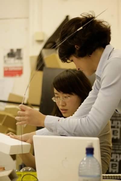Наталья Ремизова. Фото рабочего процесса в студии курса MArch Urban Design.